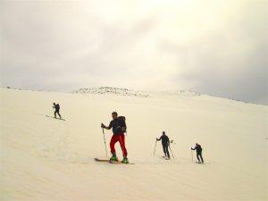 L'ampio respiro di una gita di scialpinismo