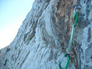 La roccia fantastica della scogliera di Pranu Sartu