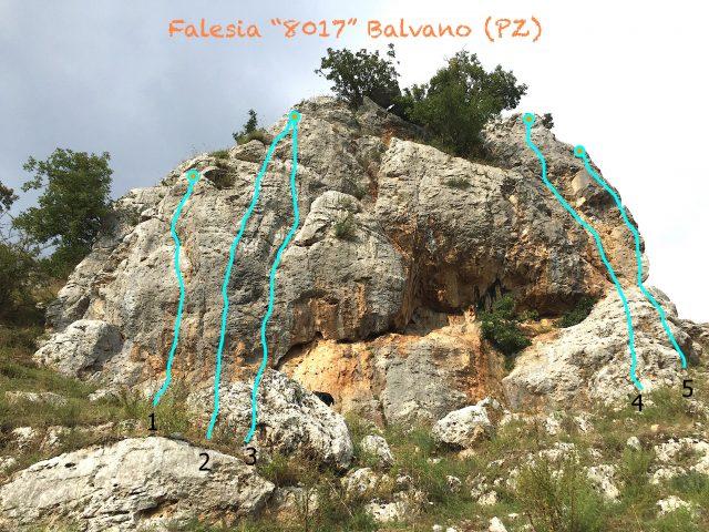 Falesia di Balvano - Arrampicata